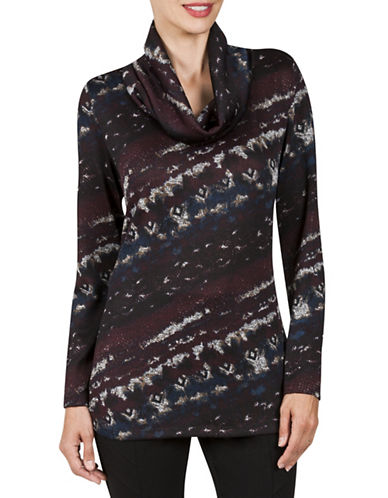 Haggar Cowl Neck Tunic-PURPLE-Small