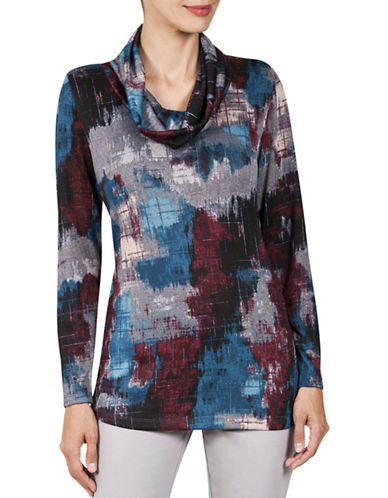 Haggar Cowl Neck Tunic-MULTI-X-Large