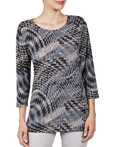 Haggar Cross-knit Tunic-BEIGE-Small