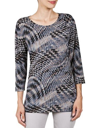 Haggar Petite Cross-knit Tunic-BEIGE-Petite Small