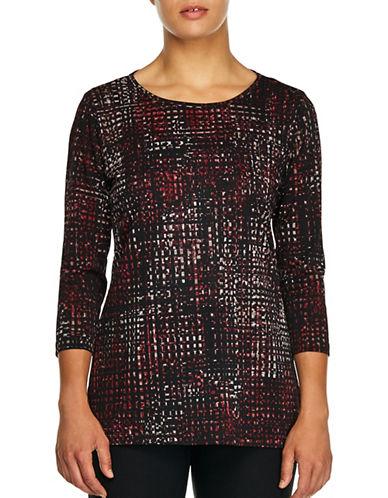 Haggar Petite Cross-knit Tunic-RED-Petite Large