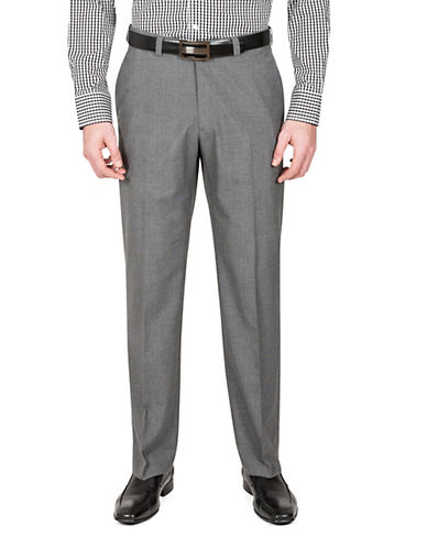 Haggar Cross Bone Straight-Fit Dress Pants-GREY-34X32