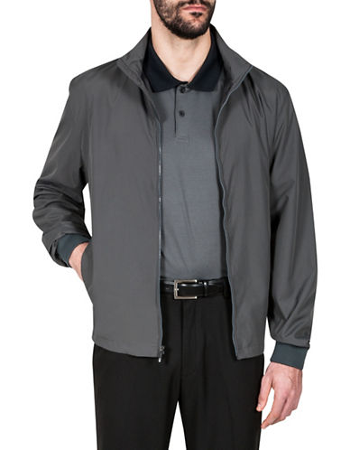 Haggar Water Resistant Jacket-GREY-Large 89932431_GREY_Large