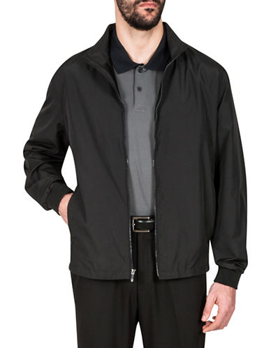 Haggar Water Resistant Jacket-BLACK-Medium