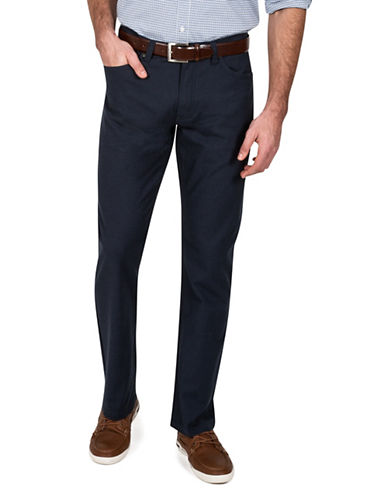 Haggar Heritage Pin Dot Straight-Fit Pants-BLUE-34X30