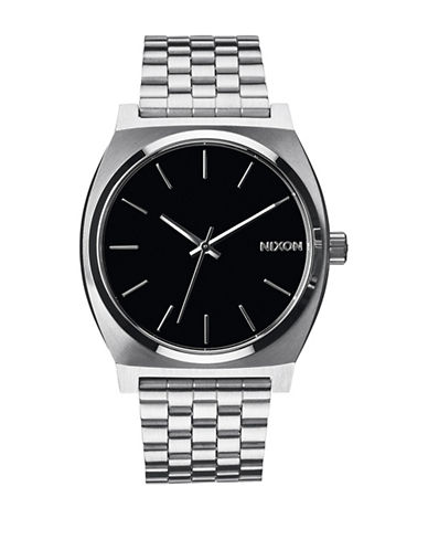 Nixon Analog Time Teller Silvertone Bracelet Watch-SILVER-One Size