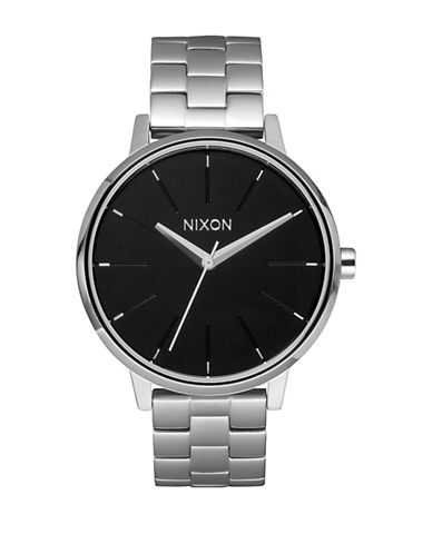Nixon Analog Kensington Stainless Steel Bracelet Watch-SILVER-One Size