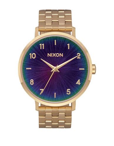 Nixon Arrow Goldtone Analog Watch-MULTI-One Size