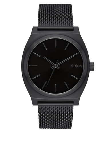 Nixon Time Teller Milanese Unisex Analog Watch-BLACK-One Size