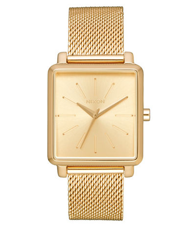 Nixon K Squared Goldtone Analog Watch-GOLD-One Size