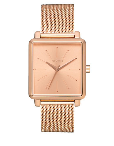 Nixon K Squared Milanese Rosegold Stainless Steel Bracelet Watch-ROSE GOLD-One Size