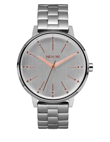 Nixon Analog Kensington Rose Goldtone Watch-SILVER-One Size
