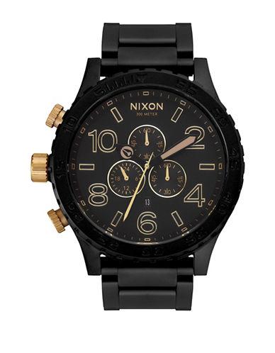 Nixon Chronograph 51-30 Matte Two-Tone Bracelet Watch-BLACK-One Size