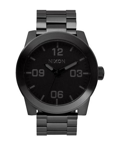Nixon Analog Corporal SS Black IP Bracelet Watch-BLACK-One Size