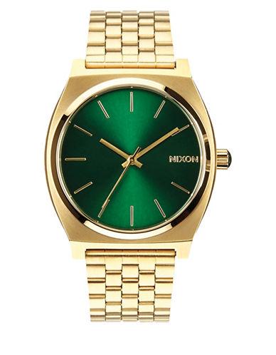 Nixon Analog Time Teller Goldtone Bracelet Watch-GOLD-One Size