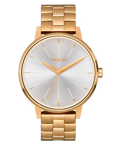 Nixon Analog Kensington Two-tone Bracelet Watch-GOLD-One Size