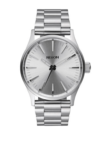 Nixon Analog Sentry 38 Stainless Steel  Bracelet Watch-SILVER-One Size