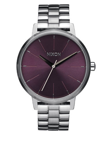 Nixon Analog Kensington Stainless Steel Bracelet Watch-PURPLE-One Size