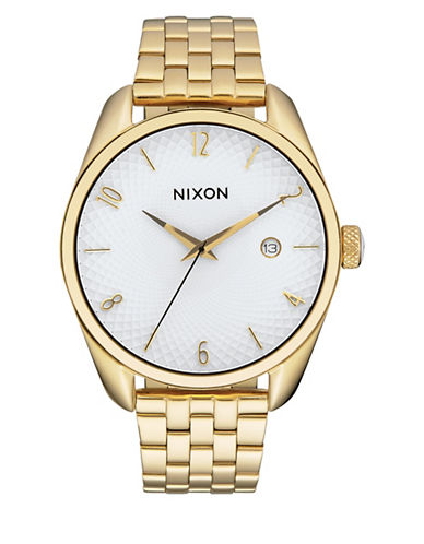 Nixon Analog Bullet Goldtone Bracelet Watch-GOLD-One Size