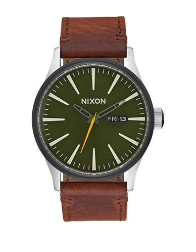 Nixon Analog  Sentry Surplus Strap Watch-BROWN-One Size
