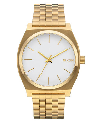 Nixon Analog Time Teller Goldtone Bracelet Watch-GOLD-One Size