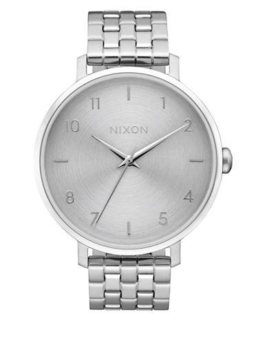 Nixon Analog Arrow All Silver Stainless Steel Bracelet Watch-SILVER-One Size