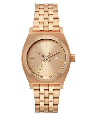 Nixon Analog Medium Time Teller Rose-Goldtone Bracelet Watch-ROSE GOLD-One Size