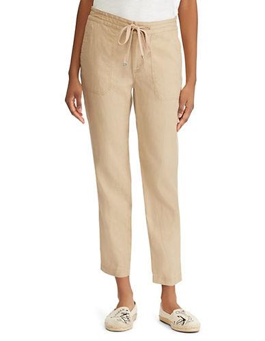 Lauren Ralph Lauren Petite Petite Straight Leg Linen Pants 90108535