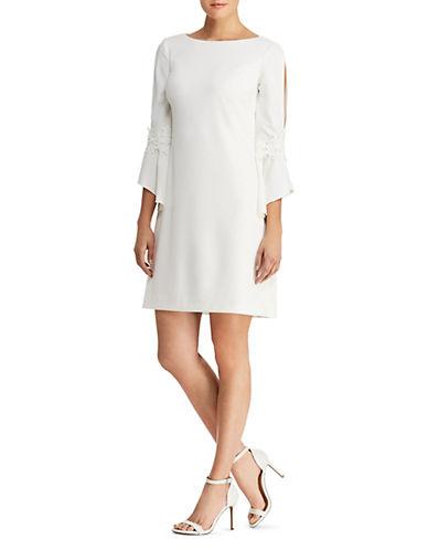 Lauren Ralph Lauren Lace-Trimmed Bell-Sleeve Shift Dress 90019249