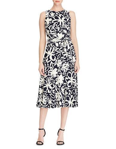 Lauren Ralph Lauren Floral Jersey Fit-and-Flare Dress 90019350