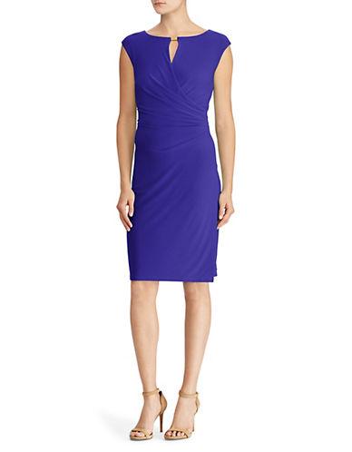 Lauren Ralph Lauren Cap-Sleeve Faux-Wrap Dress 90019239