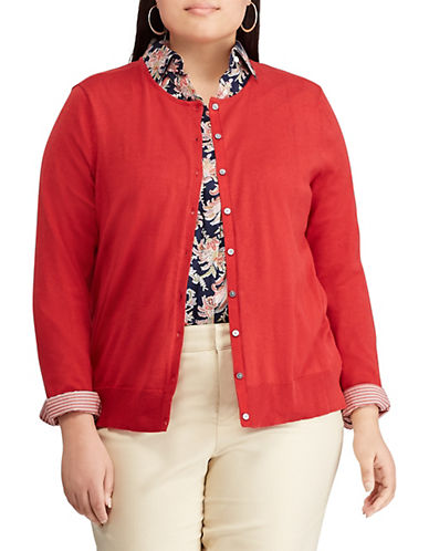 Chaps Plus Cotton-Blend Cardigan 90310906