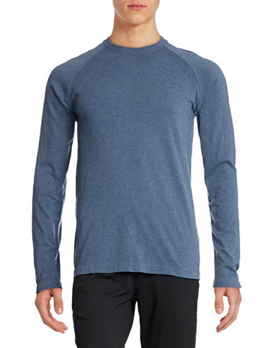 Mpg Seamless Long Sleeve T-Shirt-HEATHER BLUE-Large/X-Large 88316713_HEATHER BLUE_Large/X-Large