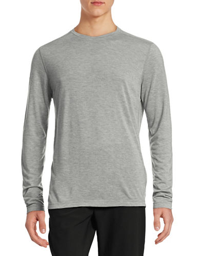 Mpg Essential Crew Long Sleeve T-Shirt-HEATHER GREY-X-Large 88316834_HEATHER GREY_X-Large
