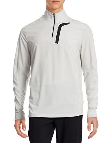 Mpg Wind Break Quarter-Zip Jacket-HEATHER GREY-Large 88316813_HEATHER GREY_Large