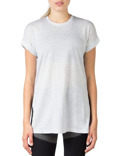 Mpg Pixel Split-Side Tee-GREY-X-Small 88676984_GREY_X-Small