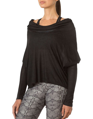 Mpg Tensile Cowl Neck Top-BLACK-Medium 88740166_BLACK_Medium