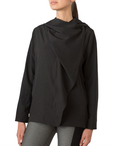 Mpg Wrap Asymmetrical Cardigan-BLACK-Large 88570563_BLACK_Large