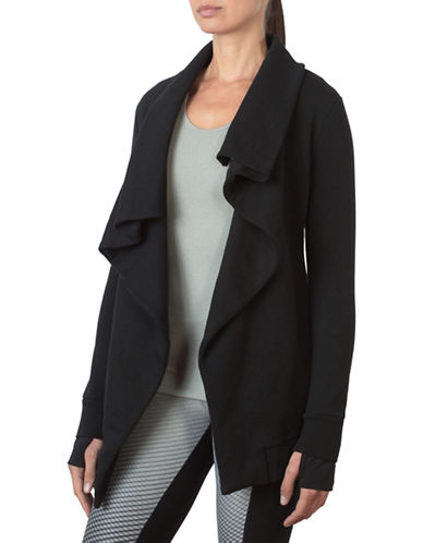 Mpg Chalk Cover Up Cardigan-BLACK-X-Small 88676939_BLACK_X-Small