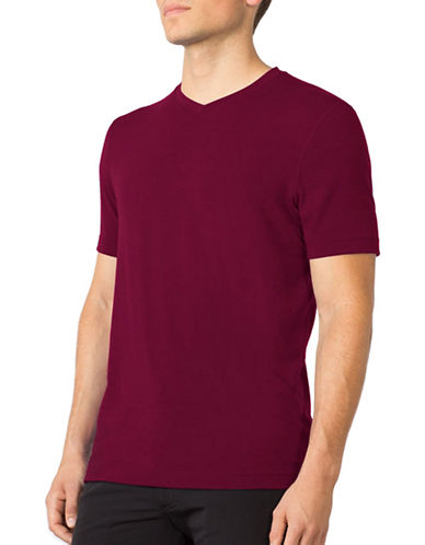 Mpg Tower V-Neck T-Shirt-MAROON-Medium