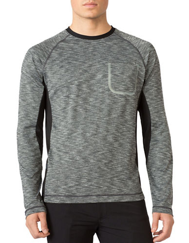Mpg Immerse Space Dye Long Sleeve Run Shirt-CHARCOAL-Large 88739501_CHARCOAL_Large