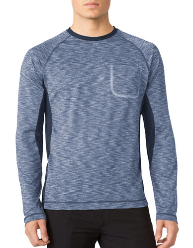 Mpg Immerse Space Dye Long Sleeve Run Shirt-NAVY-XX-Large 88739508_NAVY_XX-Large