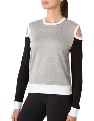 Mpg Long Sleeve Round Neck Sweater-GREY-Medium 88676971_GREY_Medium