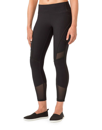 Mpg Arabesque Mesh-Paneled Capris-BLACK-Small 88570526_BLACK_Small