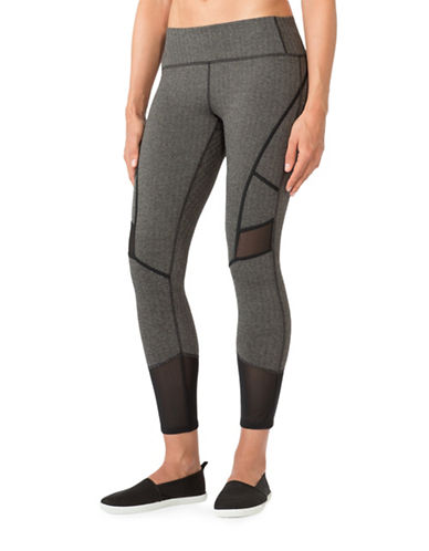 Mpg Arabesque Mesh-Paneled Capris-GREY-Large 88570533_GREY_Large