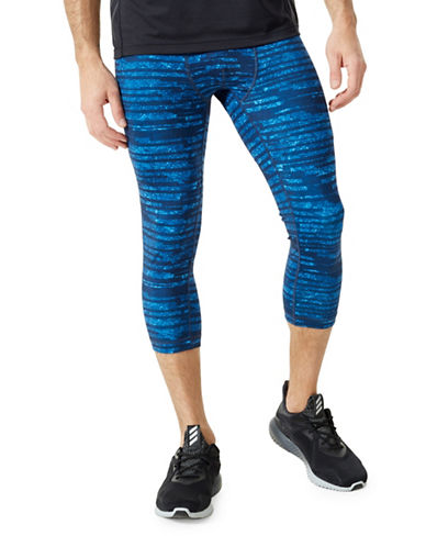 Mpg Division Cropped Leggings-BLUE-Small