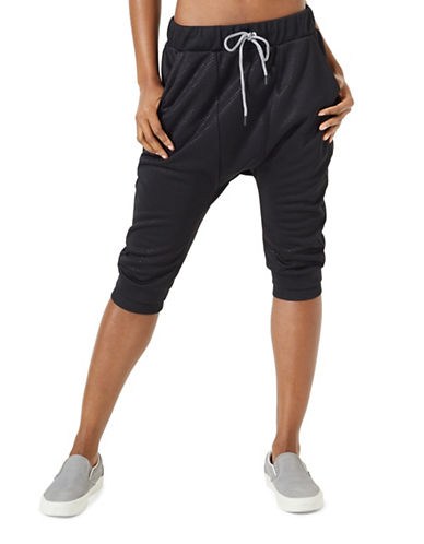 Mpg Julianne Hough Extra Cropped Jogger Pants-BLACK-Small 89007642_BLACK_Small