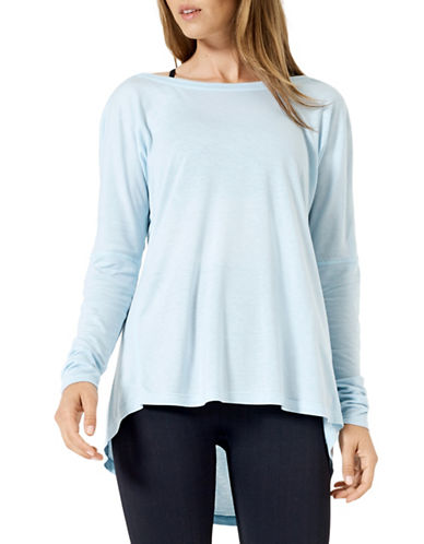 Mpg Chia Drape Hi-Lo Top-CHAMBRAY-Small 89158834_CHAMBRAY_Small
