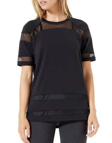 Mpg Pixie Knit Mesh Tee-BLACK-Small 89264740_BLACK_Small