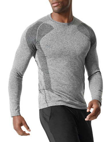 Mpg Indirect Long Raglan Sleeve Top-GREY-Medium/Large 89795209_GREY_Medium/Large